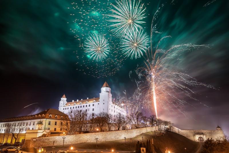 Capodanno a Bratislava- Fuochi d'artificio